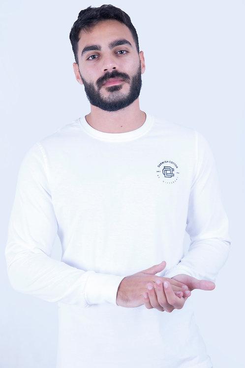 White T-shirt Full sleeve