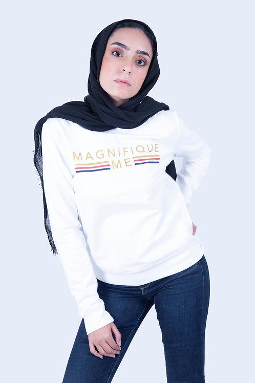 White Magnifique me Sweatshirt