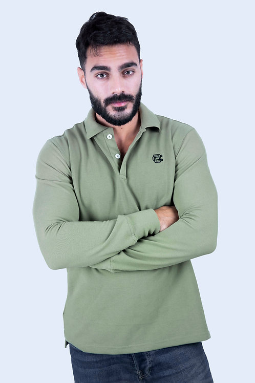 Polo full sleeve Olive