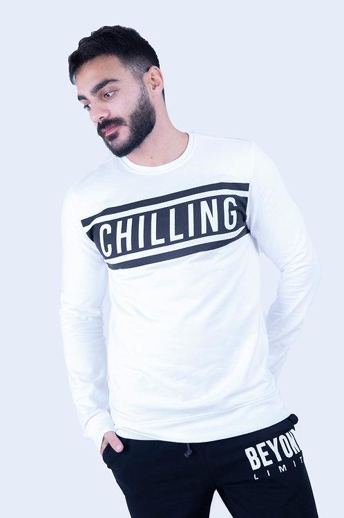 Chilling White Sweatshirt