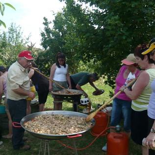 Paella tradicional tras la Raposina