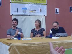Alberto Pérez Ruiz, Mª José Jabato y Eduardo Fraile en la IVª Velada Poética