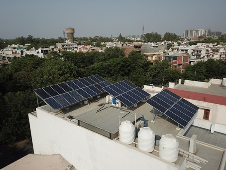 Energy Yield of a solar power plant in Gurgaon
