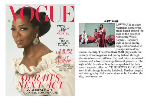 British Vogue August 2018 Feature