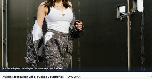 Aussie Streetwear Label Pushes Boundaries - RAW WAR