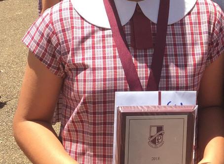 Allyssa received the Princiapal's Award!