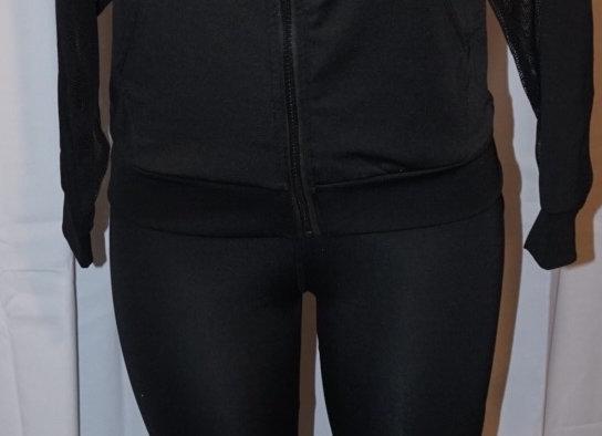 Sport Jacket & Legging Set- White & Black