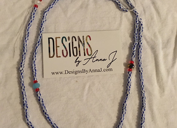 Blue & White Waistbeads