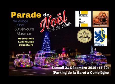 Parade de Noël lumineuse de Cox, Combi et dérivé a Compiègne