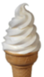 Vanilla Soft Serve Ice Cream Cone