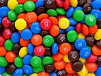 Mini M&Ms as a topping for ice cream