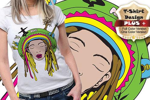 T-shirt Hippie 02