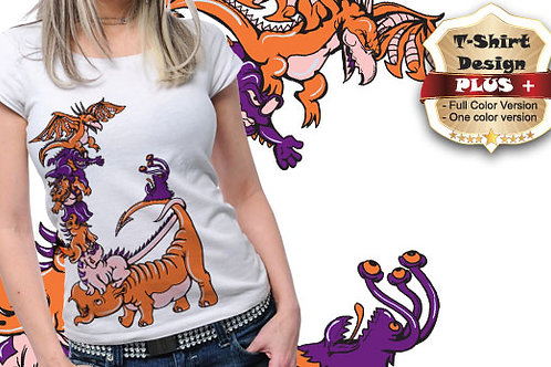 T-shirt Animali e Creature 91