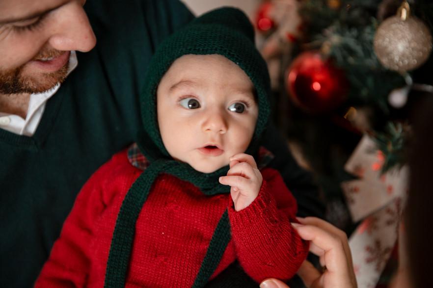 Sesión Familiar - Primera Navidad de Oliver