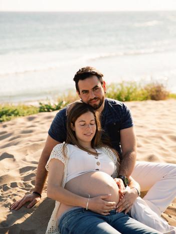 Sesión de embarazo - Almudena + Salva