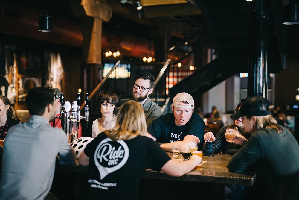 people inside bricktown brewery