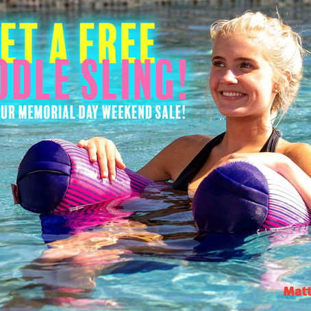 Get A FREE Noodle Sling During Our Memorial Day Weekend Sale - Sale starts Thursday, May 27!