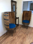 The Tallback whisky barrel chair.