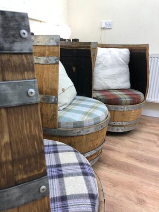 The Makar Chair, whisky barrel chair.