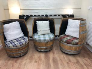 The Makar Chairs, Whisky barrel furniture.