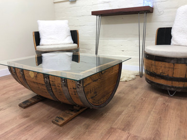 The Open Suite, whisky barrel furniture.