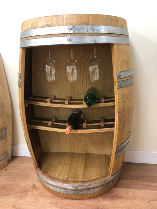 Wine Cave, whisky barrel storage. Wine and whisky display.