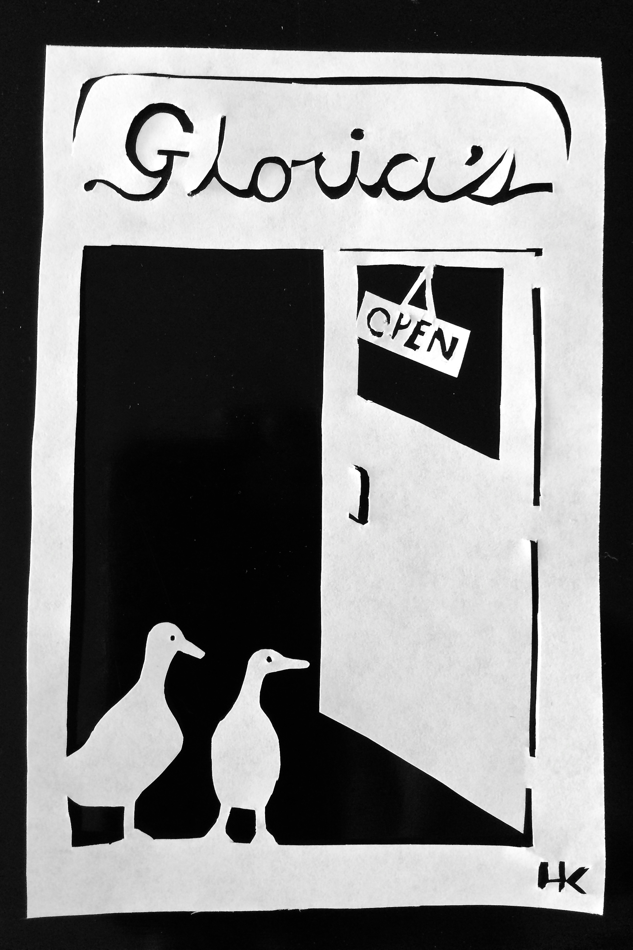 """Ducks Inside A Doorway"""