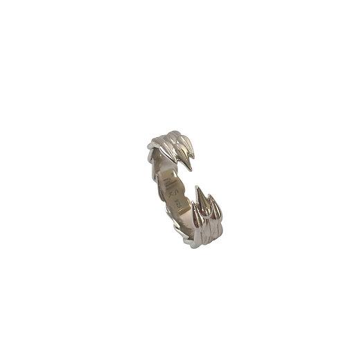 LOTUS HOOPS - Ring, Silver