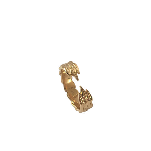LOTUS HOOPS - Ring, Gold plated silver