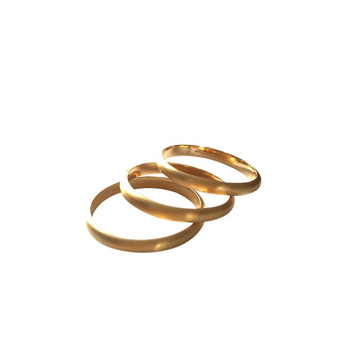 Stack ring - Gold plated silver