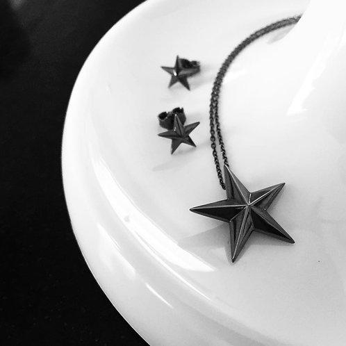 STAR necklace (black)