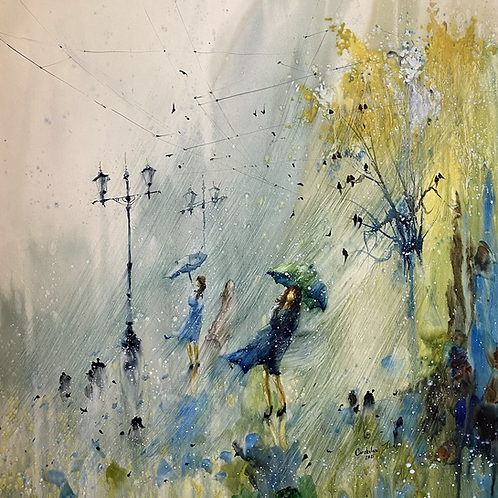 "Sold ""Spring windy rain"""