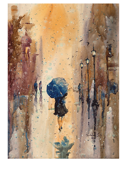 "A4 Print ""Rainy day"""