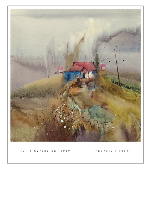 """A4 Print """"Lonely House"""""""