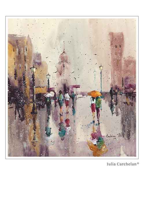 "A4 Print ""Rain of Colors"""