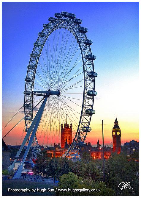 BB17 - London Eye & Big Ben