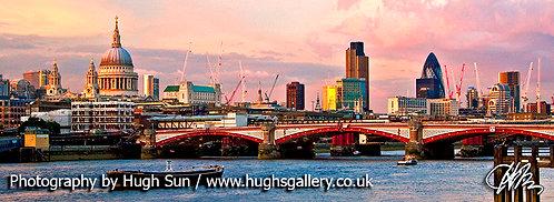 RT1-River Thames at Sunset (Panoramic)