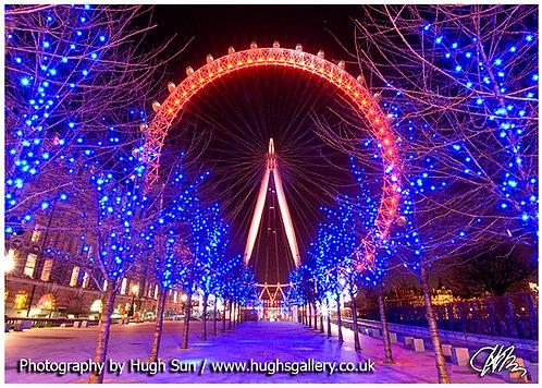 LE10-London Eye in Red