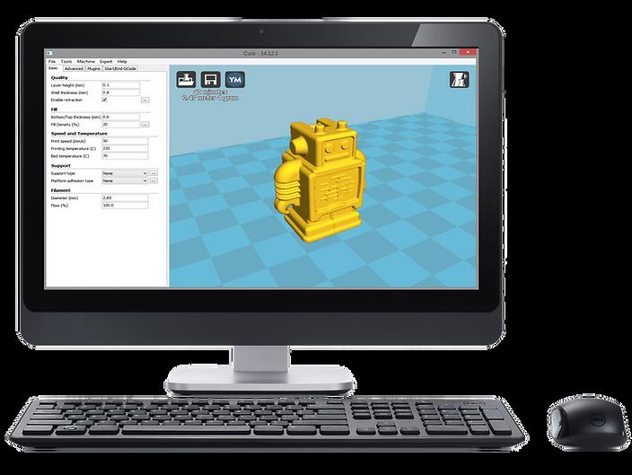 Cura 3D Splicing Software