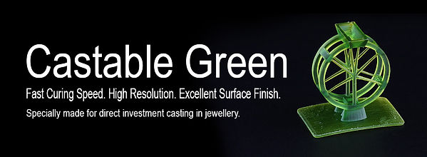 3DFacture Castable Green Resin
