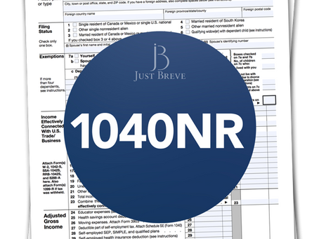 1040NR US Tax Return - claim US tax back in the UK