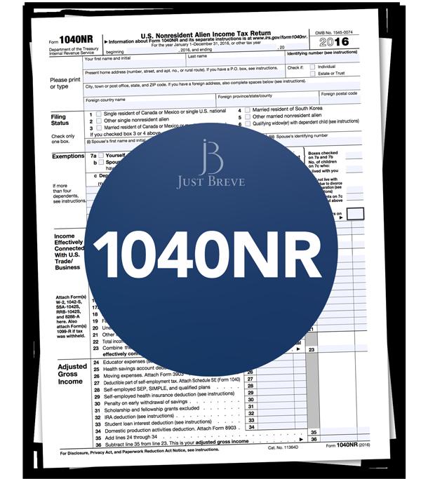 1040NR US Tax return
