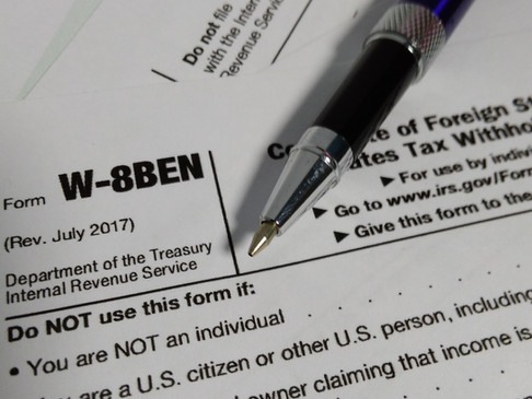 I am a UK taxpayer - how do I complete a W-8BEN?