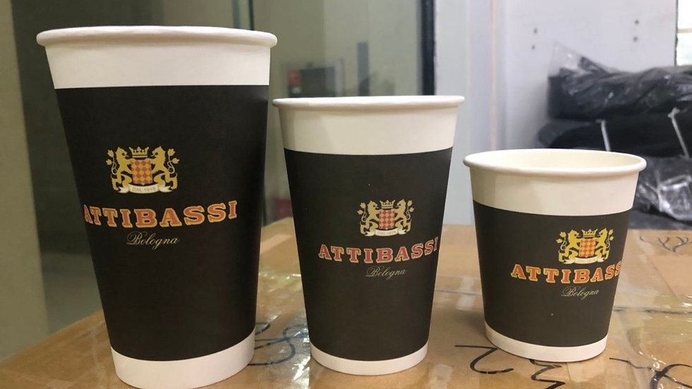 Attibassi Disposable Cups and Lid 8/12/16Oz
