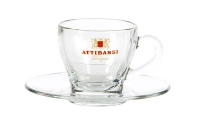 Attibassi Clear Cup and Saucer