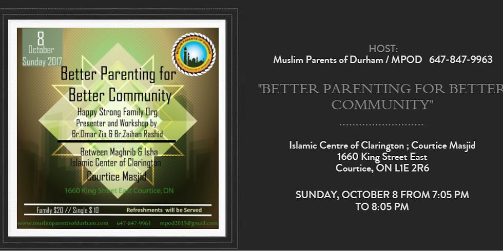 BETTER PARENTING FOR BETTER COMMUNITY