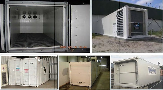 Supply of different size freezers and re