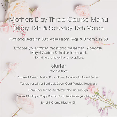 Mothers Day Special Dine in with The Deli