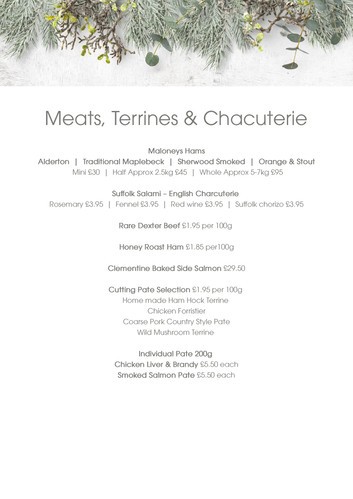 Meats, Terrines, Chacuterie