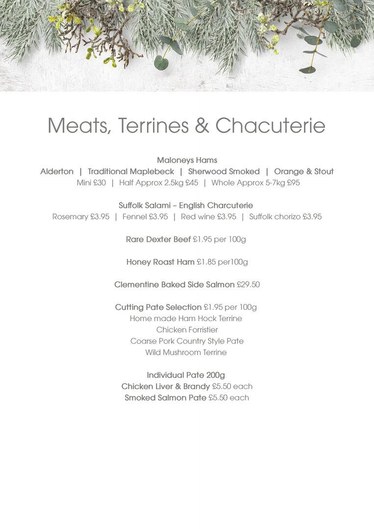 Meats, Terrines, Chacuterie